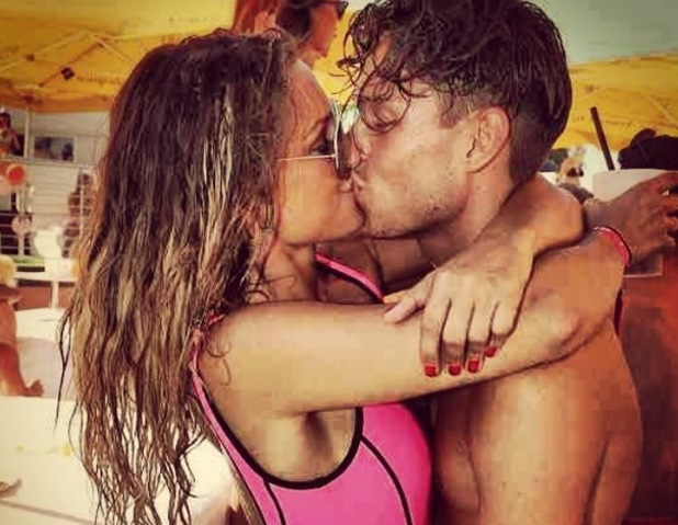 Joey Essex and Sam Faiers kiss in Ibiza, Instagram 9 August