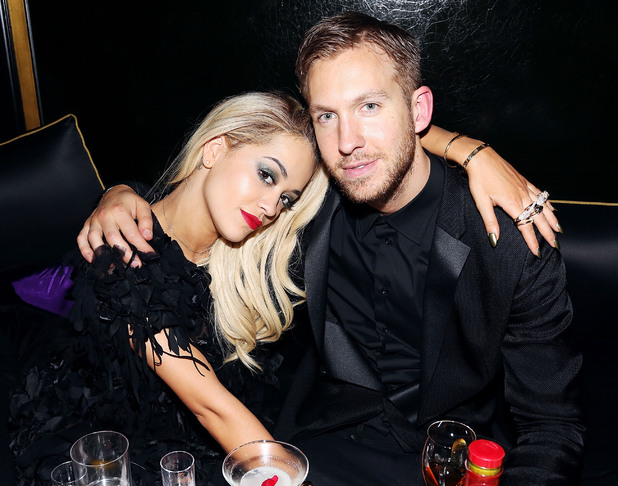 Rita Ora and Calvin Harris attend the Three Six Zero and Nokia MixRadio Party at Hakkasan on February 19, 2014 in London, England. (Photo by David M. Benett/Getty Images for Three Six Zero-Nokia MixRadio)