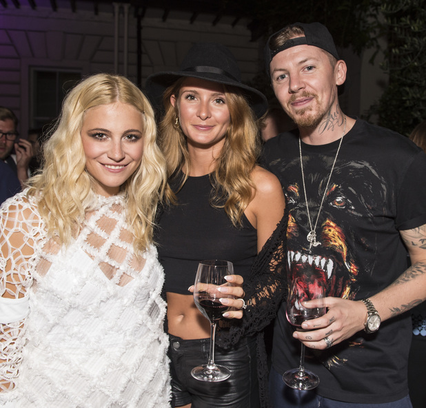 Millie Mackintosh, Professor Green and Pixie Lott at the release party for Pixie's new album 'Pixie Lott' at The Langham Hotel, London. 5 August 2014