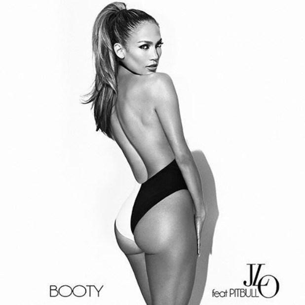 Jennifer Lopez looks amazing in sexy artwork for new single, 'Booty'. (13 August).