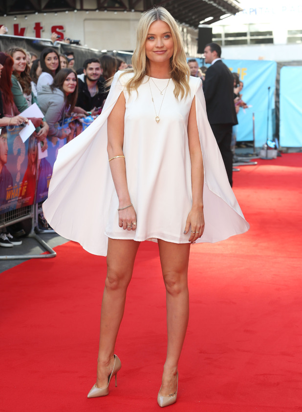 Laura Whitmore at What If premiere, Leicester Square, London 12 August