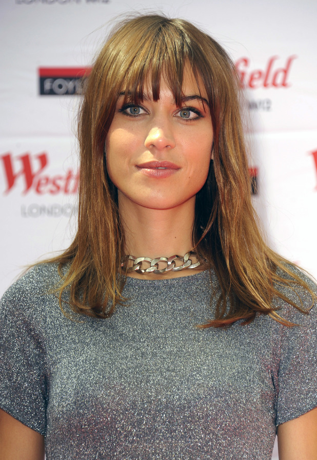 Alexa Chung shows off her new fringe while signing copies of her book 'It' in Westfield, London - 12 August 2014