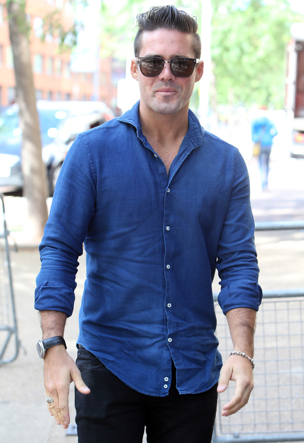 Made In Chelsea's Spencer Matthews at the ITV studios 08/11/2014 London, United Kingdom