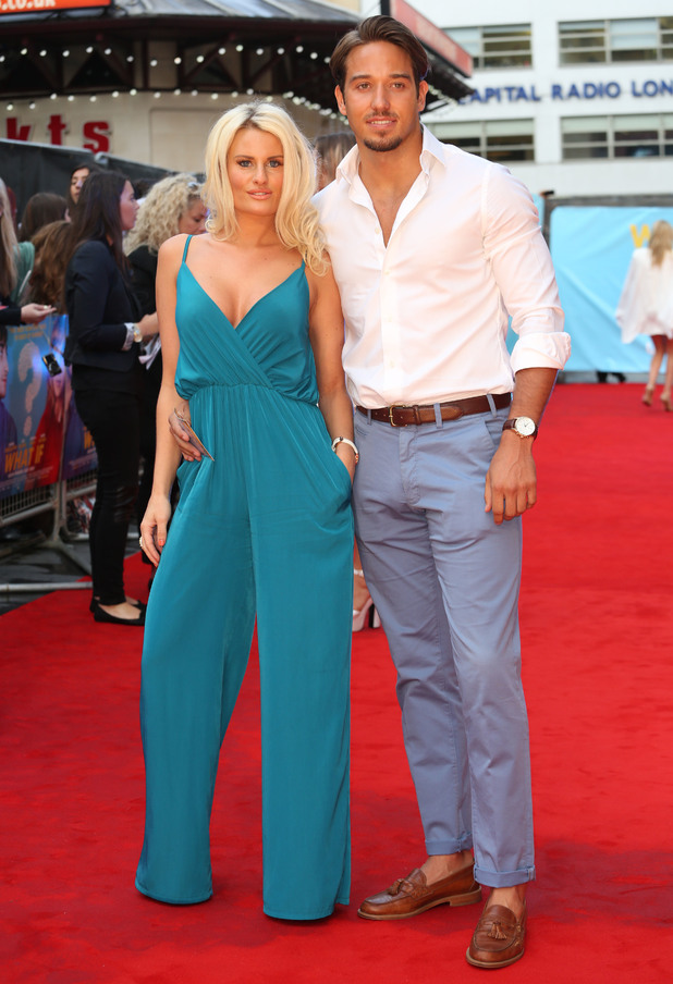 Danielle Armstrong and James Lock attend the premiere of What If in London, England - 12 August 2014