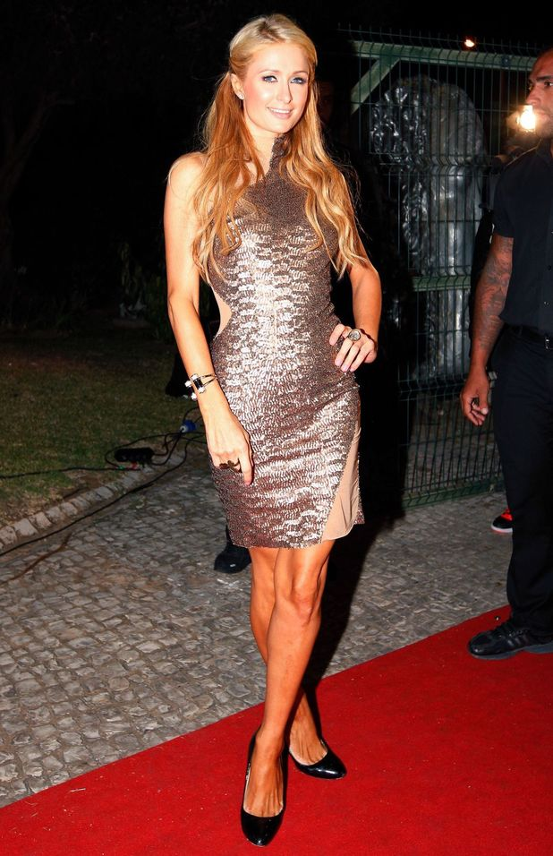 Paris Hilton celebrates the anniversary of Seven nightclub in Vilamoura, Portugal - 11 August 2014