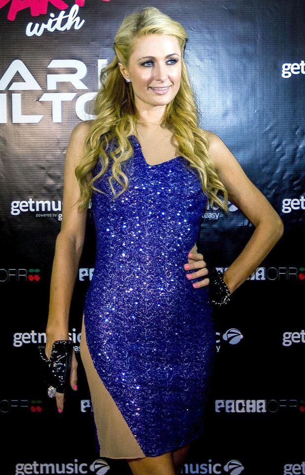 Paris Hilton before her DJ set at Pacha nightclub in the Algarve, Portugal - 12 August 2014