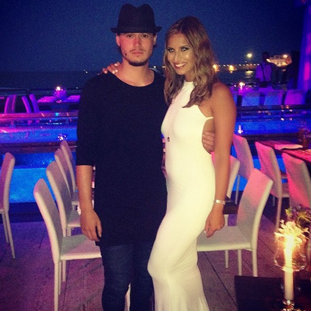 'The Only Way is Essex' cast members in Ibiza, Spain - 10 Aug 2014 Ferne McCann, Charlie Sims