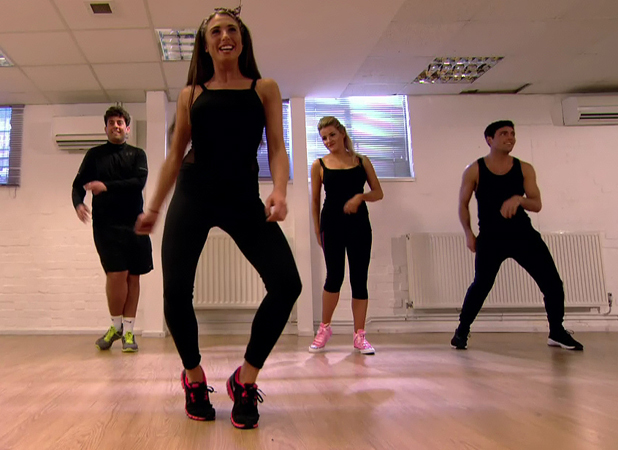 Arg and Tom take a dance class with Grace and Georgia on 'The Only Way Is Essex', shown on ITV2 HD