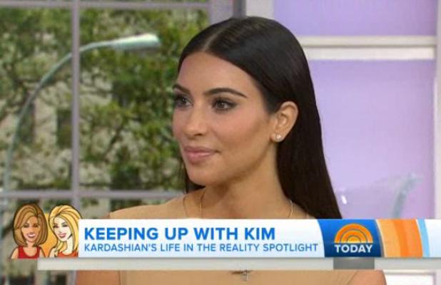 Kim Kardashian appearing on Kathie Lee & Hoda on Today, 12 August 2014