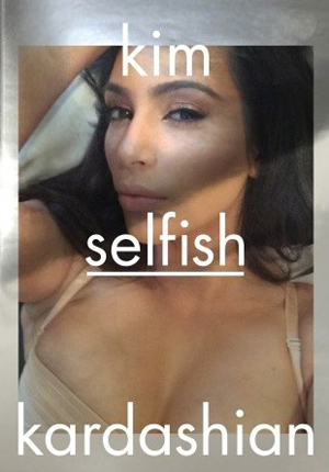 Kim Kardashian's book cover for her selfies book, Selfish, for release April 2015