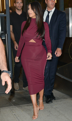 Kim Kardashian leaving Watch What Happens Live in New York, 11 August 2014
