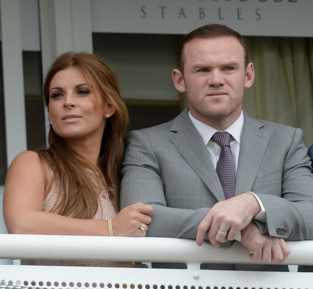 Wayne and Coleen Rooney at Boodles Ladies Day during the May Festival at Chester Racecourse, 2014