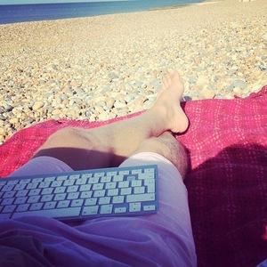 Jeff Brazier blogging, Instagram 30 July