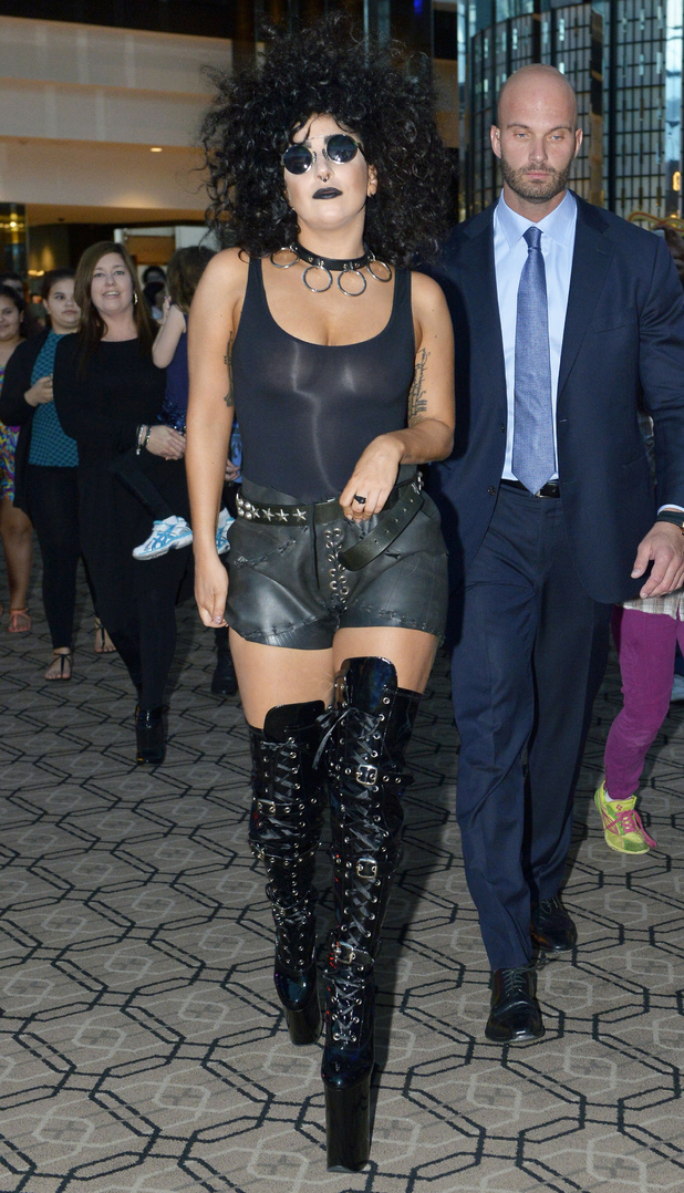 Lady Gaga steps out in Perth, Australia, for her ArtRave: The Artpop Ball tour - 20 August 2014