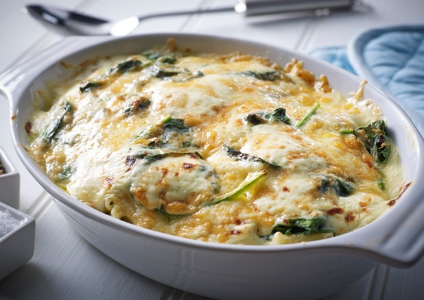 Mac and cheese with spinach by Tom Aikens