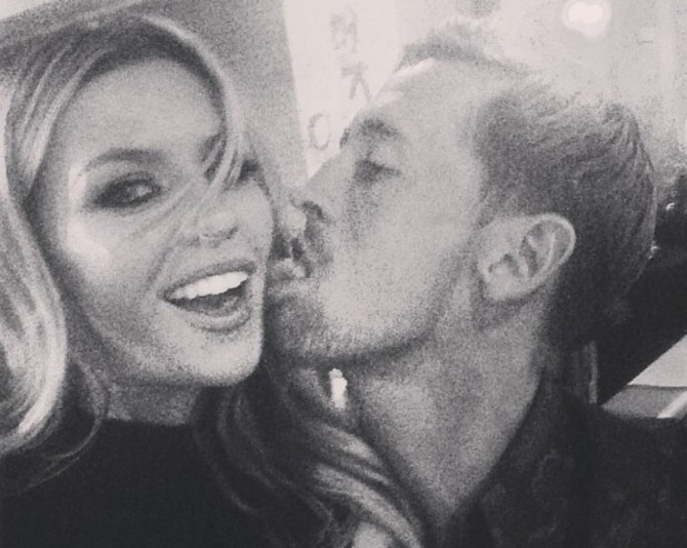 Abbey Clancy and Peter Crouch selfie PDA, Instagram 17 August