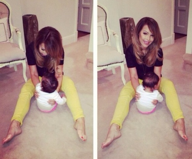 Katie Piper relaxes at home with her daughter Belle - 19 August 2014