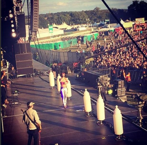 Lily Allen performs at V Festival 2014 - Chelmsford, England - 17 August 2014