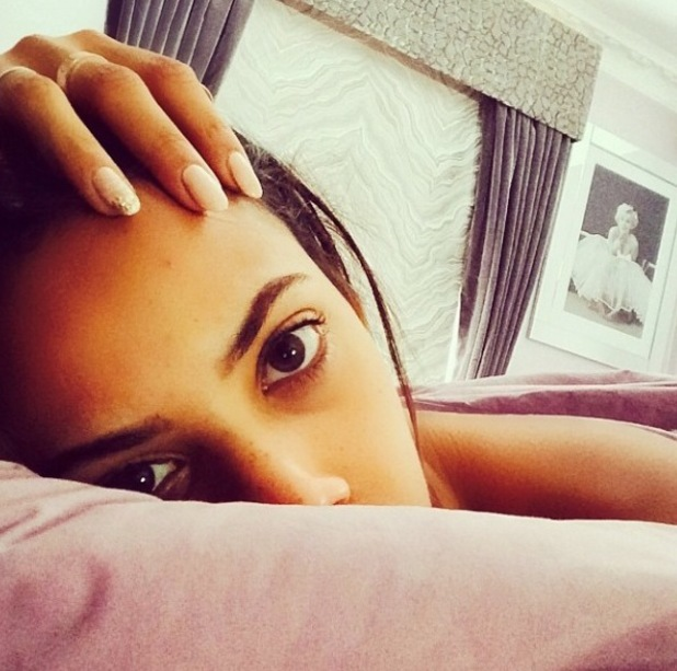 Rochelle Humes hungover on Instagram, 18/8/14