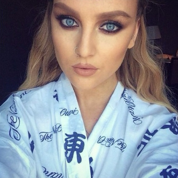 Little Mix's make-up artist Adam Burrell posts a picture of Perrie Edwards on Instagram - 19 August 2014