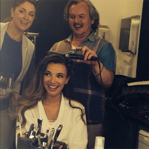 Nadine Coyle prepares for a beauty photo shoot in London - 15 August 2014