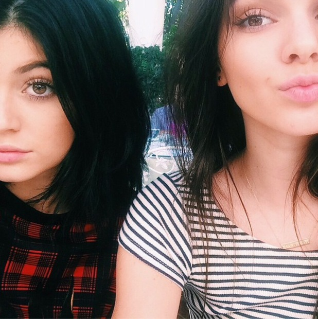 Kylie Jenner and Kendall Jenner take an Instagram selfie - 21 August 2014