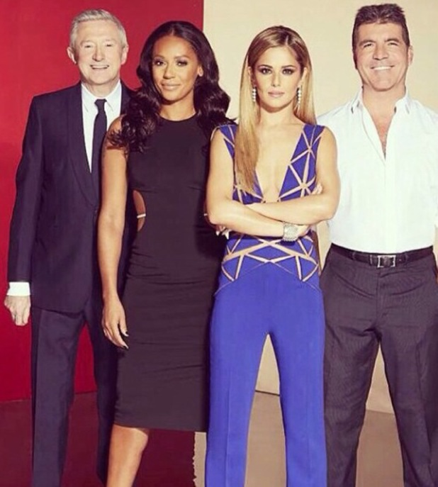 Mel B shares new X Factor judges lineup picture - 21 August 2014