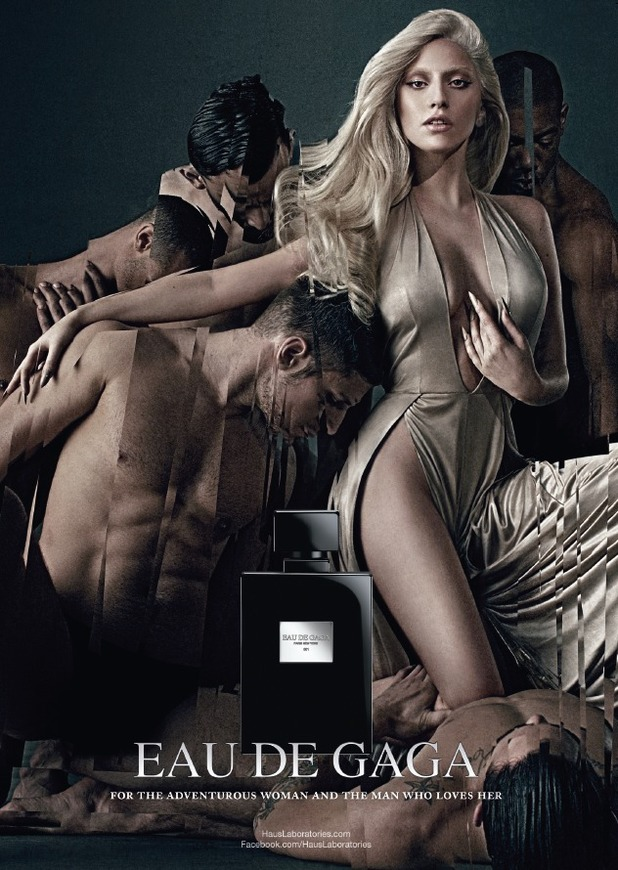 Lady Gaga's campaign image for her second perfume Eau de Gaga - 18 August 2014