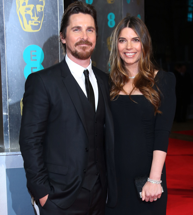 Christian Bale and wife Sibi at British Academy Film Awards (BAFTA) 2014 held at the Royal Opera House - Arrivals, 2014