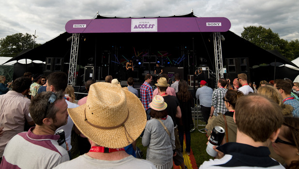 Foxes performs at Virgin Media's Louder Lounge Sony Xperia Stage, August 2014