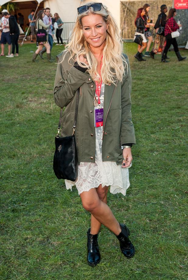 Denise Van Outen, V Festival, Hylands Park, Chelmsford, Essex, Britain - 16 Aug 2014