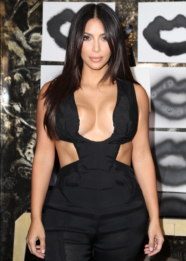 Kim Kardashian attend the Cassandra Huysentruyt Grey Hosts Artist In Residence Donald Robertson Tt VIOLET GREY Melrose Place on August 20, 2014 in Los Angeles, California