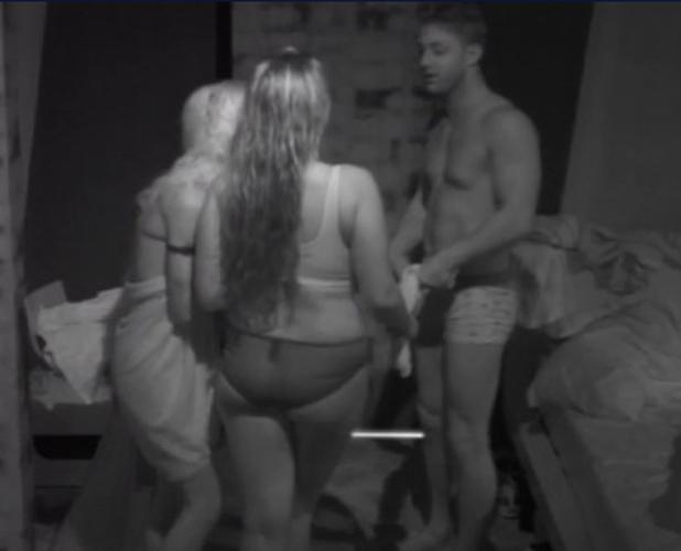 Lauren Goodger dancing in her underwear on Celebrity Big Brother, 20 August 2014