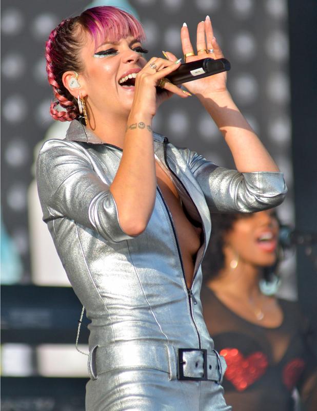 Lily Allen, V Festival, Hylands Park, Chelmsford, Essex, Britain - 17 Aug 2014