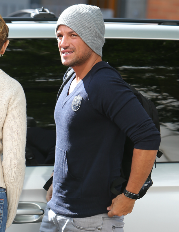 Peter Andre at ITV studios, 19 August 2014