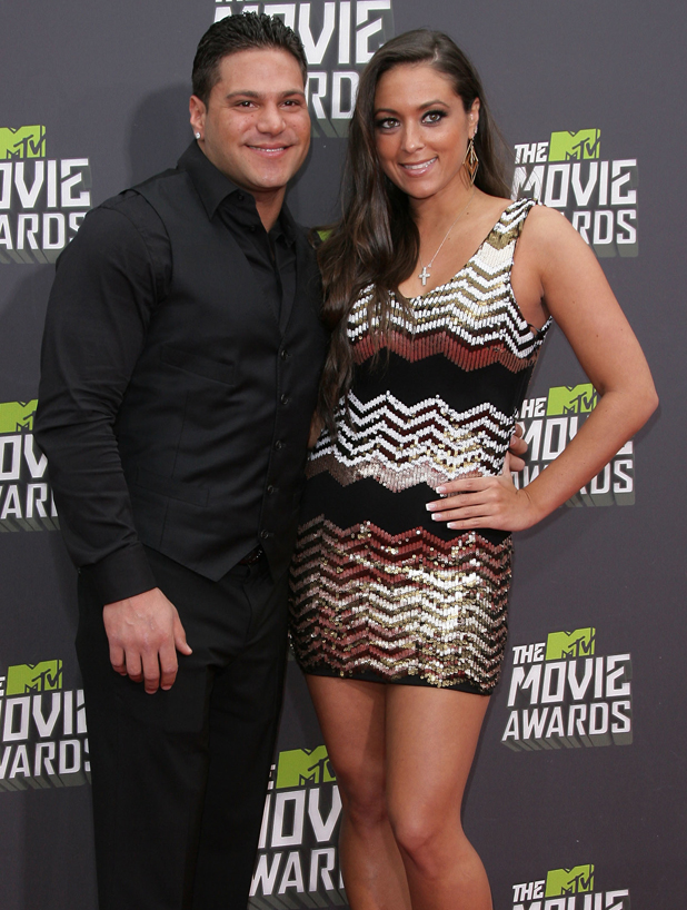 Ronnie Ortiz-Magro and Sammi Sweetheart at 2013 MTV Movie Awards held at Sony Pictures Studios- Arrivals, 2013