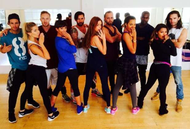 The Saturdays rehearse for their Greatest Hits Tour, 21 August 2014