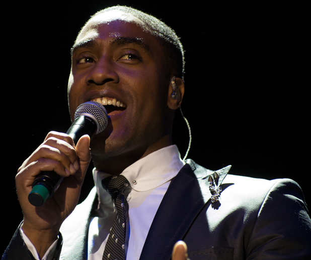 Simon Webbe of Blue performs at Phones 4 U Arena Manchester England 08.12.2013