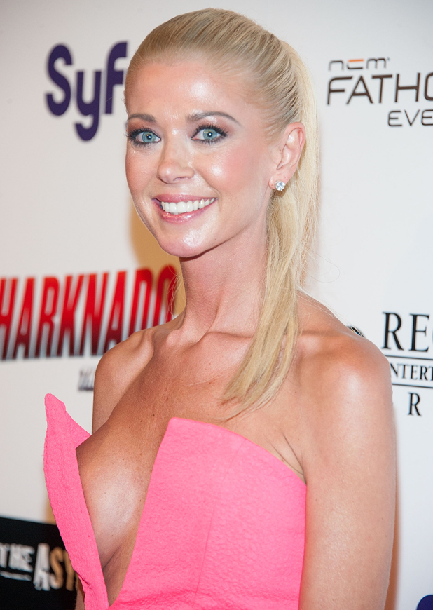 Tara Reid arrives for the Premiere Of The Asylum & Fathom Events' 'Sharknado 2: The Second One' held at Regal Cinemas L.A. Live on August 21, 2014 in Los Angeles, California