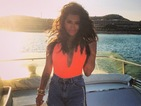 Vanessa White looks sizzling hot in neon in Greek flashback photo