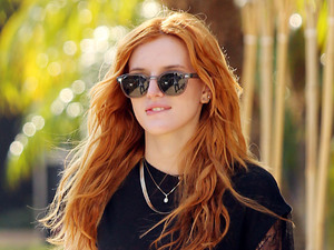 Bella Thorne sports cute monochrome outfit while out in Los Angeles