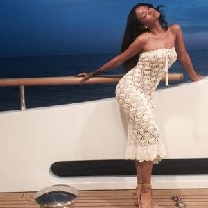 Rihanna enjoys a holiday in Sicily, Italy, on board a private yacht - 29 August 2014