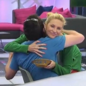 Stephanie Pratt and George Gilbey hug, Celebrity Big Brother, Channel 5 25 August