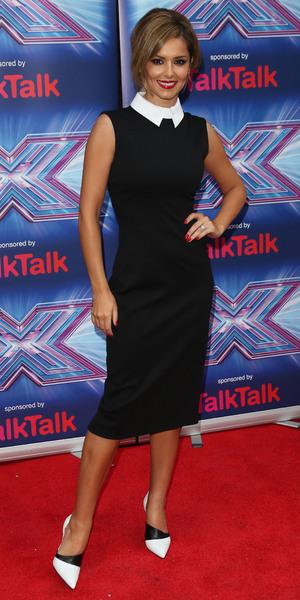 Cheryl Fernandez-Versini attends The X Factor press launch in London, England - 27 August 2014