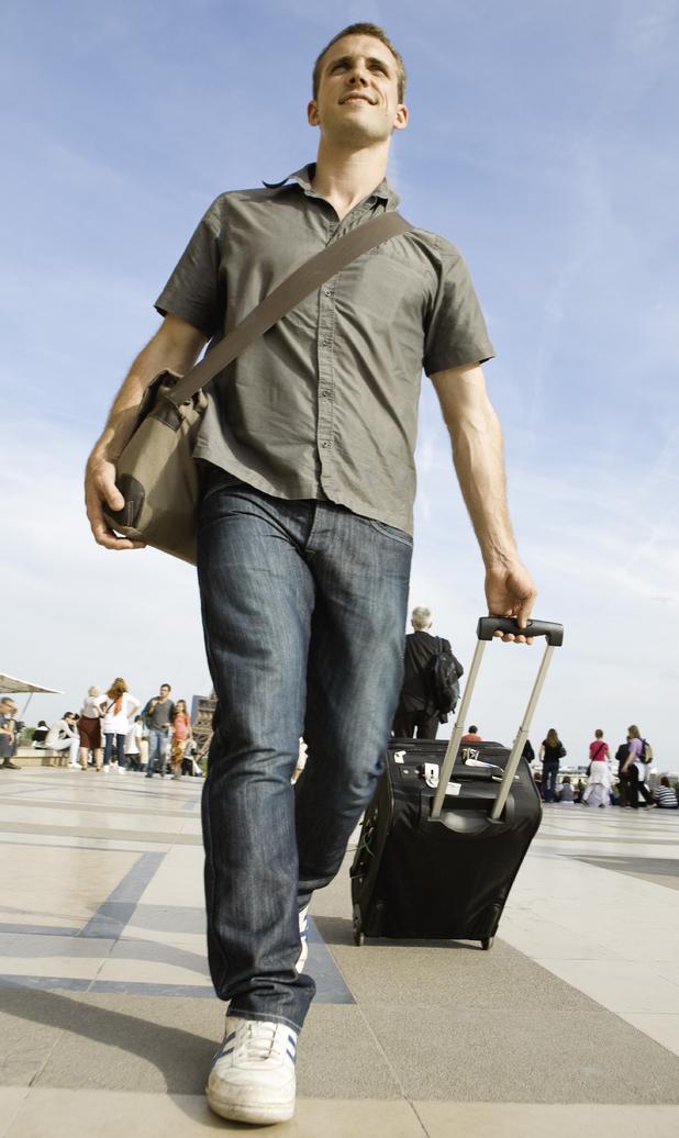 Man travelling alone