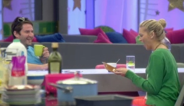 George Gilbey gives Stephanie Pratt a homemade bowl, Celebrity Big Brother, Channel 5 25 August