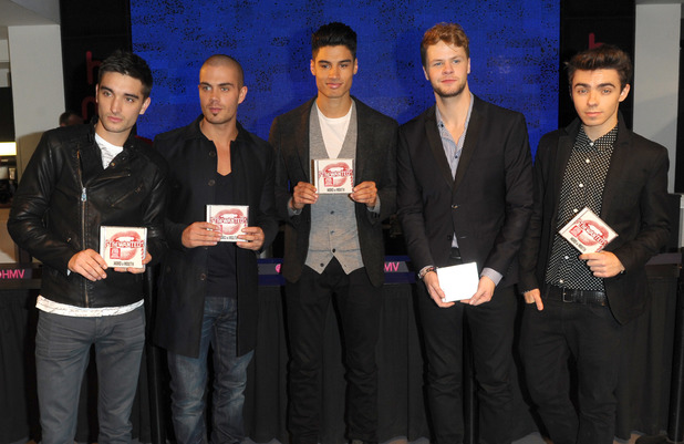 The Wanted sign copies of their latest album entitled 'Word Of Mouth' at HMV Oxford Street 11/08/2013 London, United Kingdom