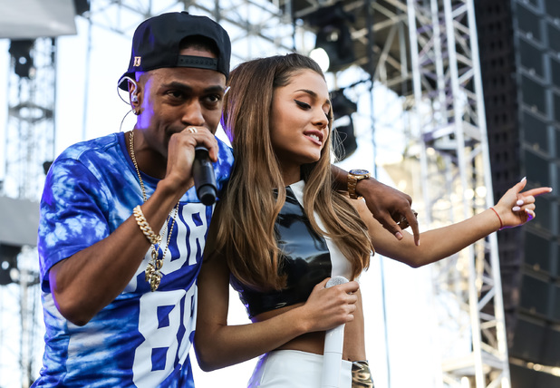 Rapper Big Sean (L) and singer Ariana Grande perform at 102.7 KIIS FM's Wango Tango at StubHub Center on 10 May 2014. Los Angeles, California. (Photo by Chelsea Lauren/WireImage)