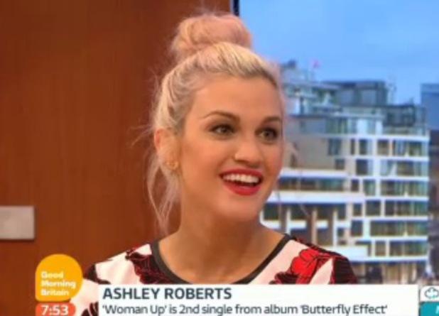 Ashley Roberts appears on Good Morning Britain, ITV studios, London 29 August