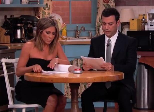 Jimmy Kimmel reunites Friends stars Jennifer Aniston, Courteney Cox and Lisa Kudrow, 27 August 2014
